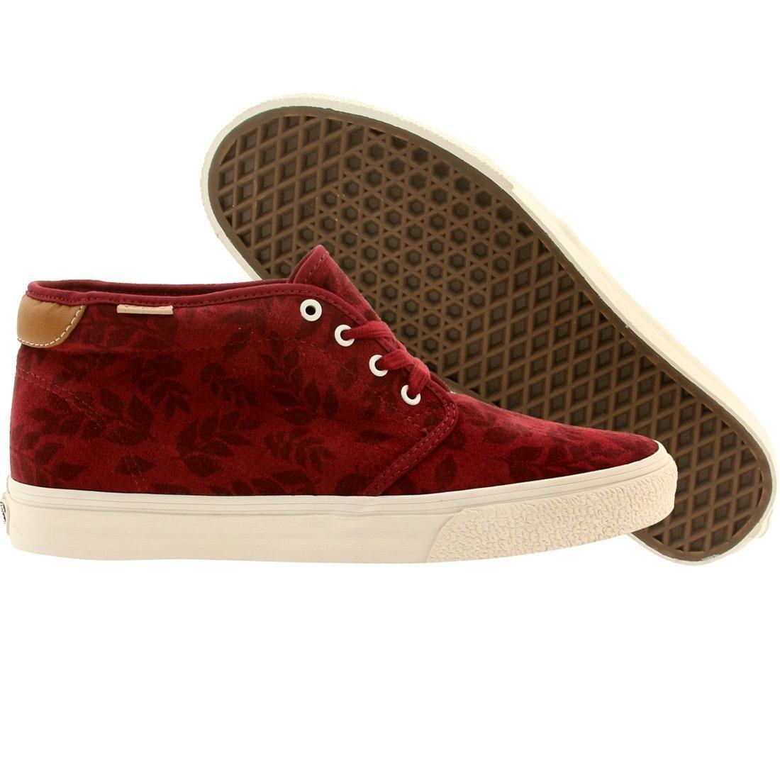 97c4238890 Vans Men Chukka Boot 69 Ca Leaf Suede (burgundy   ruby wine)