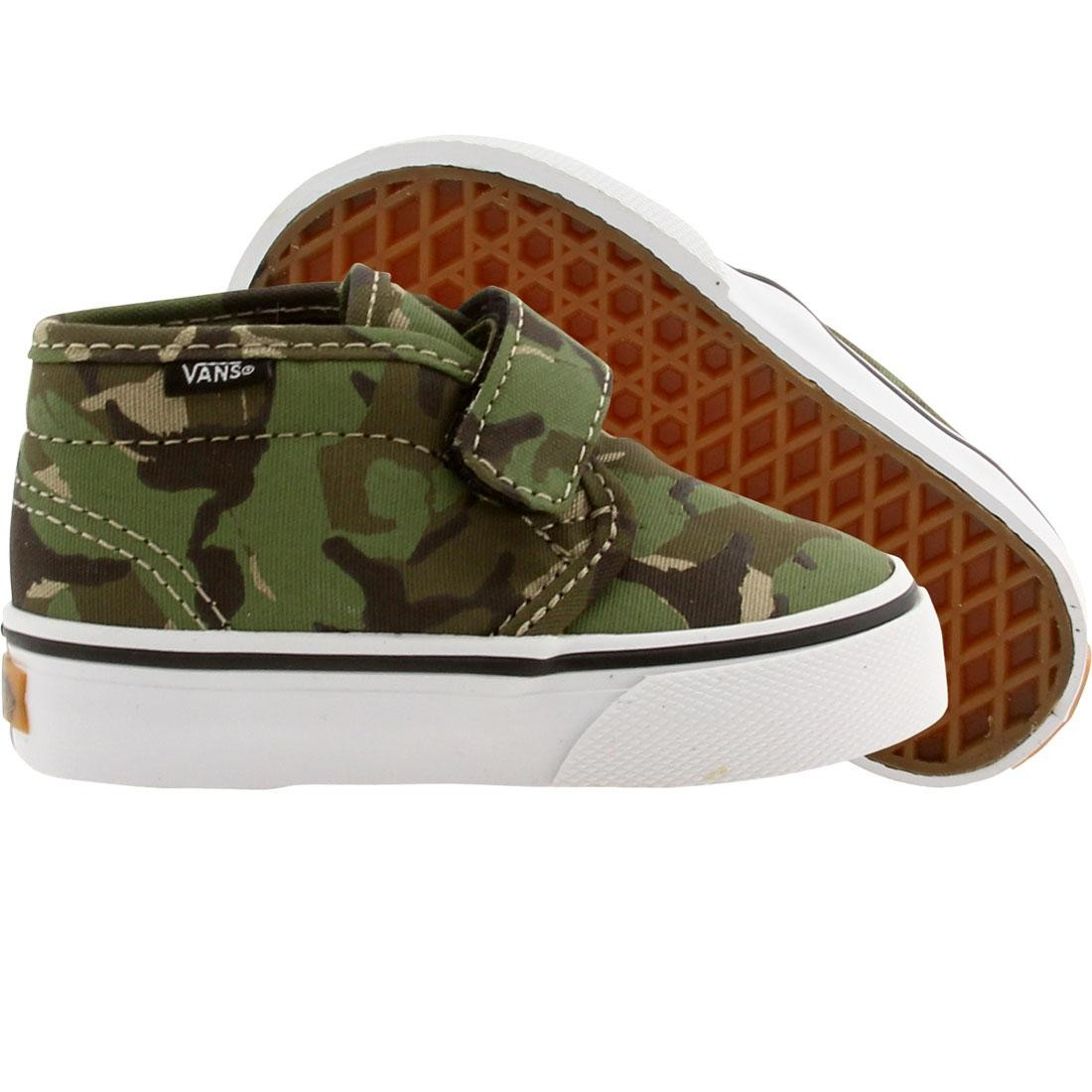 Vans Toddler Chukka V Camo (olive / true white)