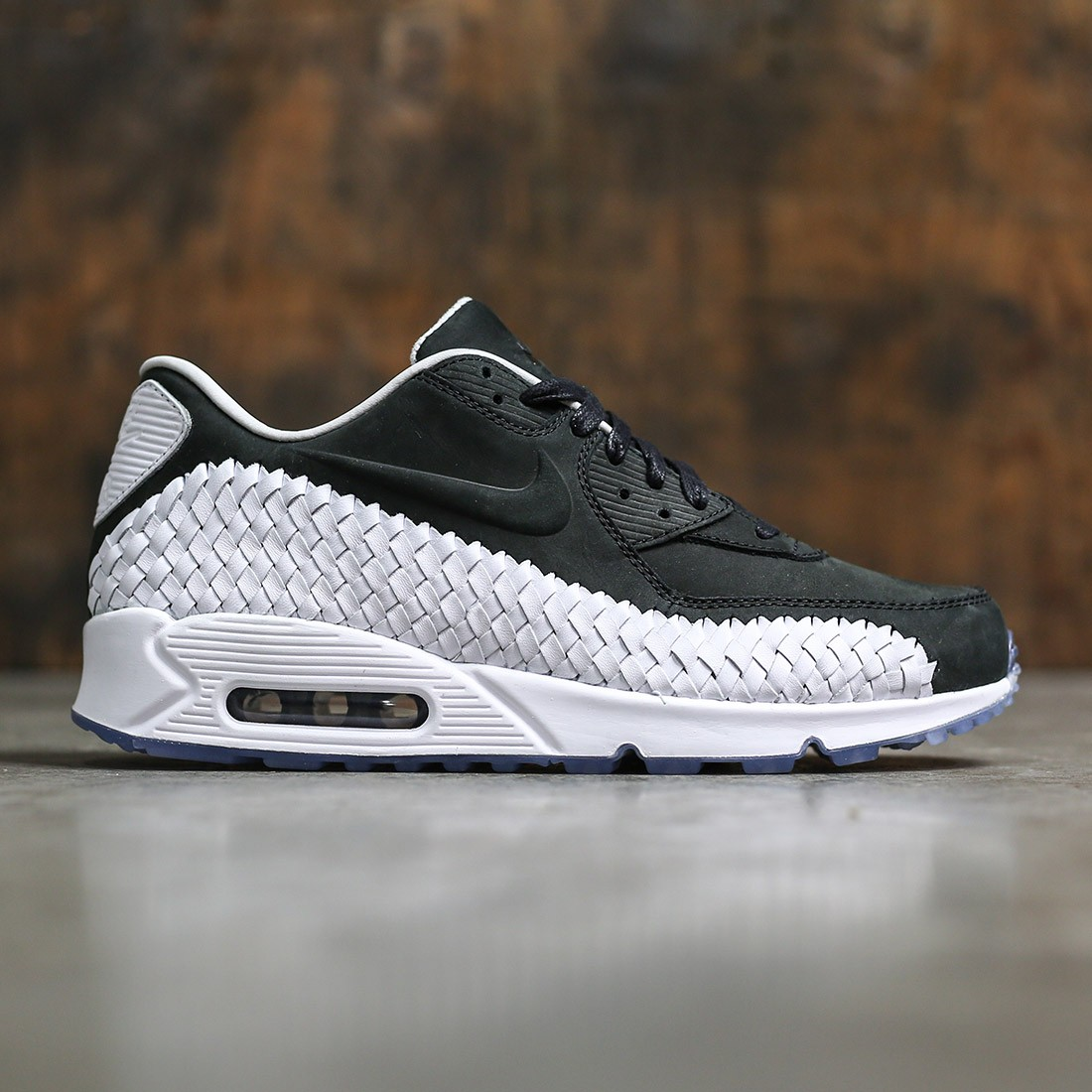 Nike Men Air Max 90 Woven Black Black White Pure Platinum