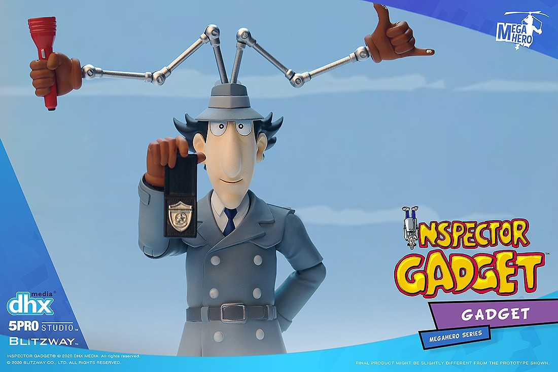 PREORDER - Blitzway 5Pro Studio Mega Hero Inspector Gadget - Gadget Figure (gray)