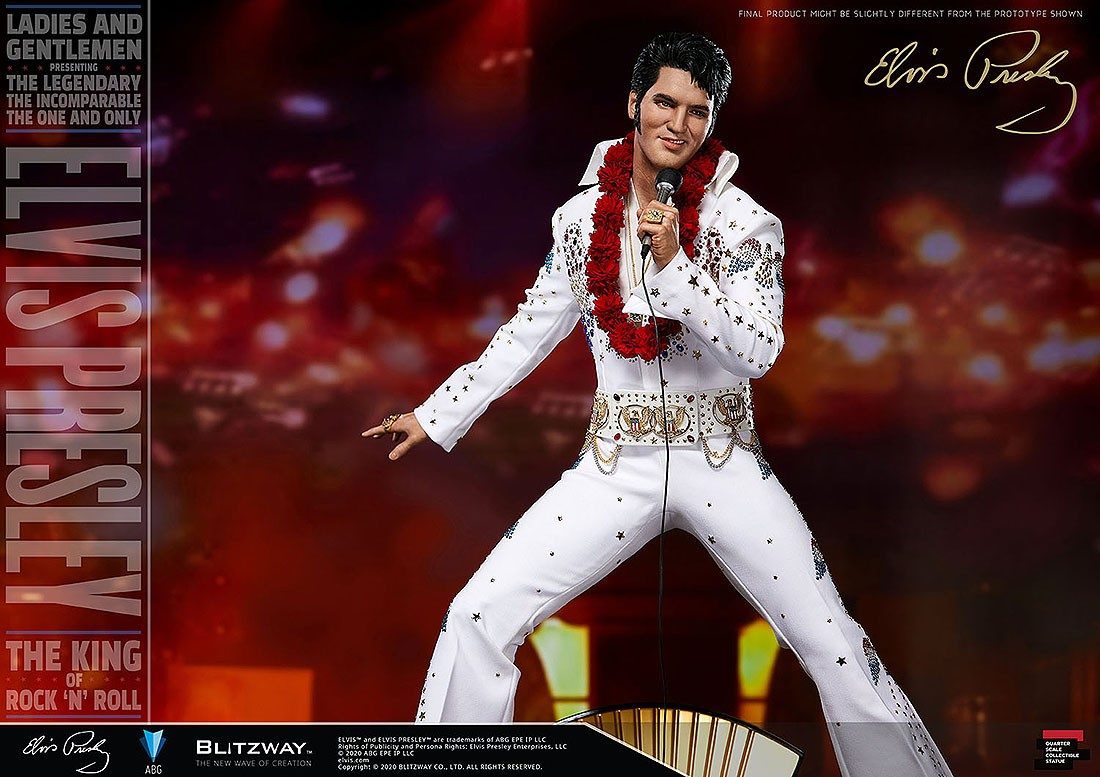 PREORDER - Blitzway Elvis Presley 1/4 Superb Scale Statue (white)