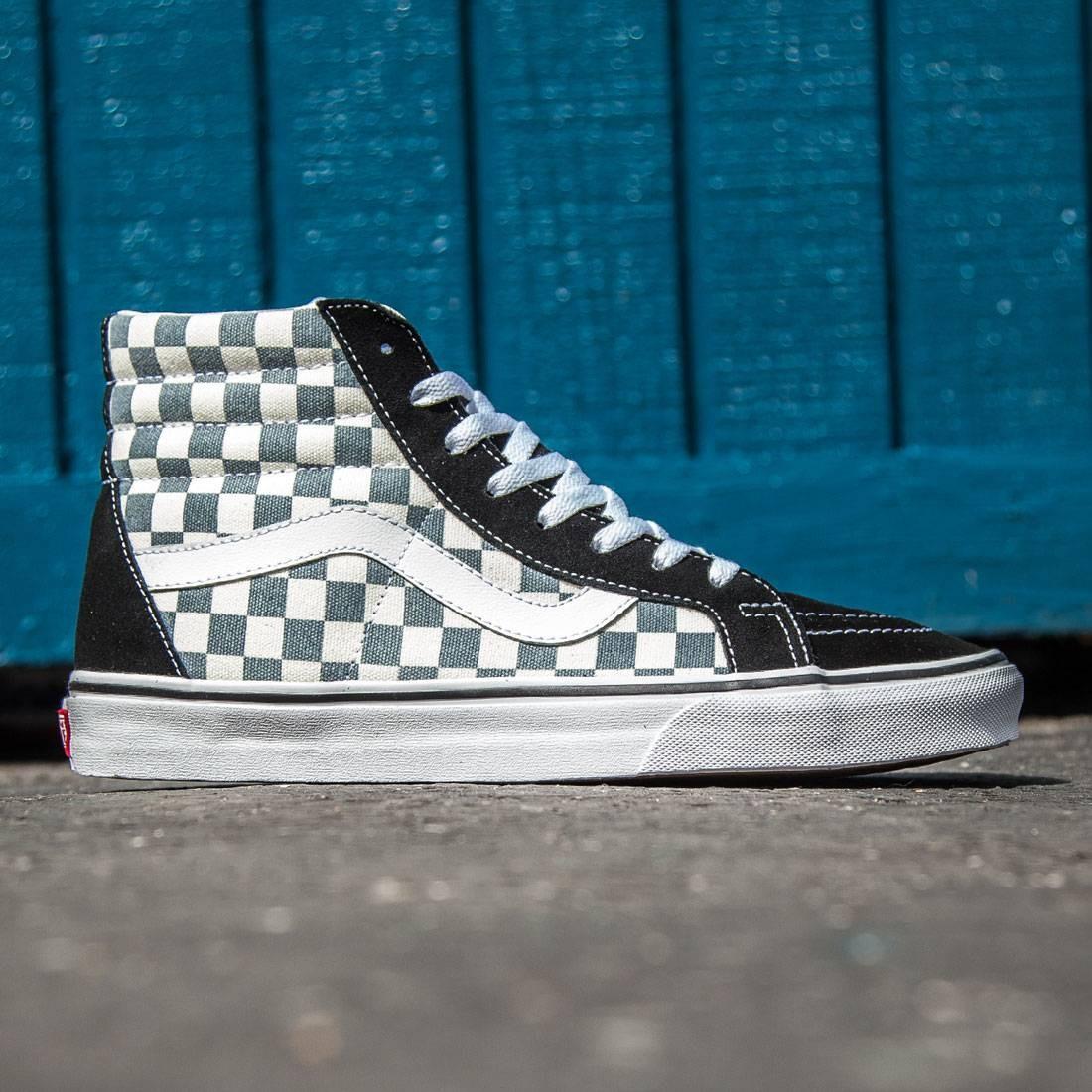 83e48f79427 Vans Men Sk8-Hi Reissue - Checkerboard black citadel