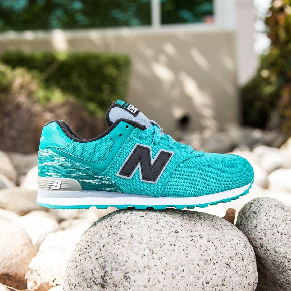 new balance 574 blue green