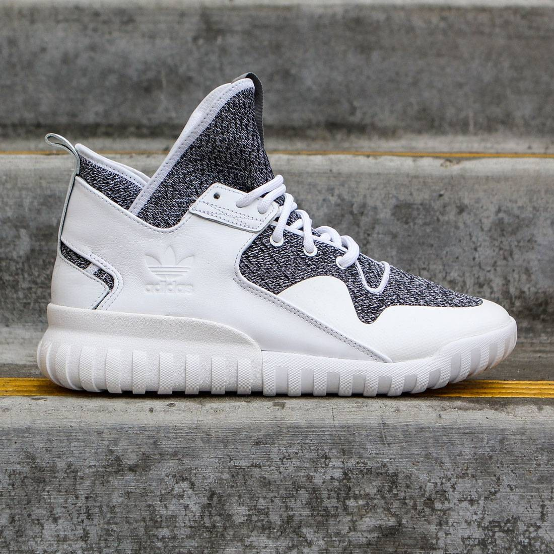 7e67f202f29e Adidas Men Tubular X white footwear white charcoal solid grey