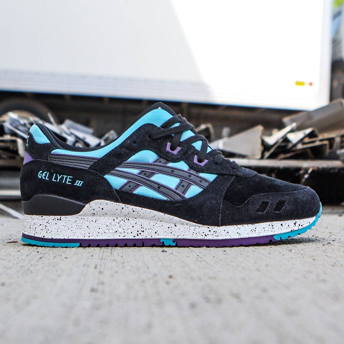 brand new f1221 596fa Asics Tiger Men Gel-Lyte III (blue / peacock blue / black)