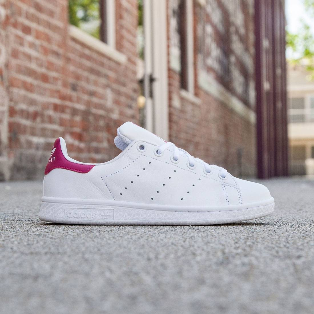 sale retailer d25d9 f800b ... cheap adidas big kids stan smith white footwear white bold pink 7d7f3  13038