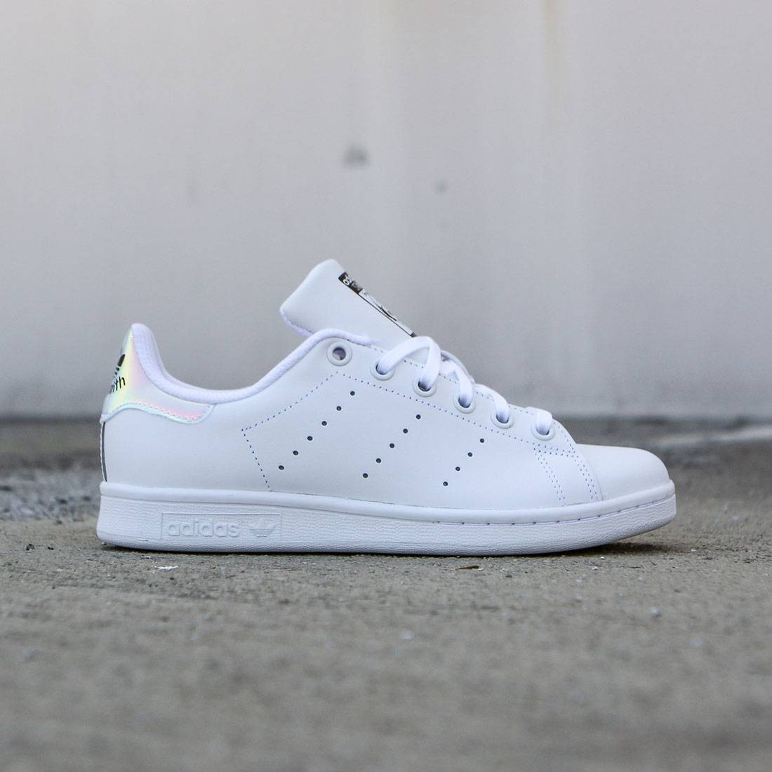 Adidas Big Kids Stan Smith white metallic silver footwear white 75323fa8f
