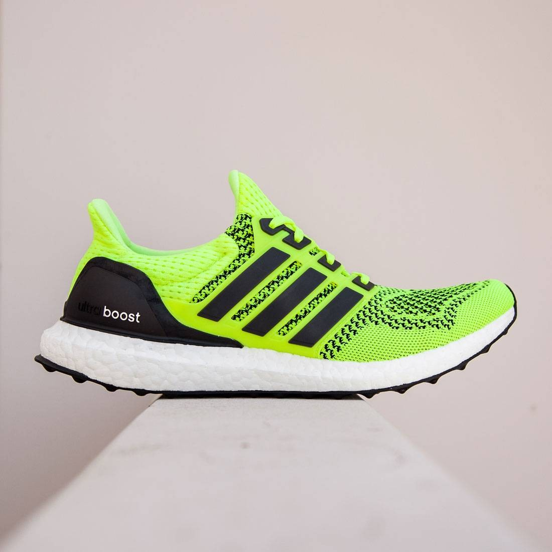 807afdc59 Adidas Men Ultra Boost yellow solar yellow core black