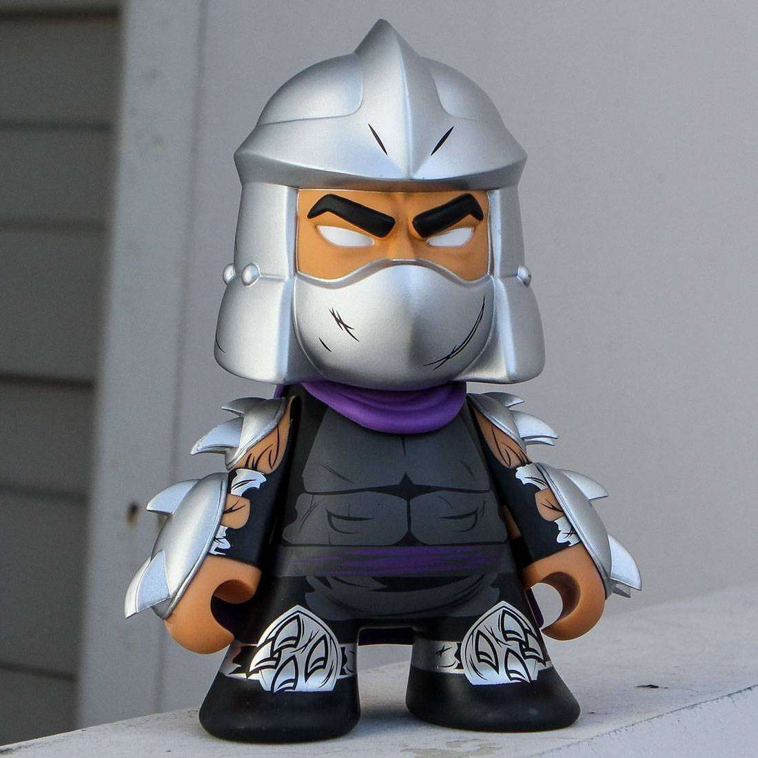 Kidrobot X Tmnt Shredder Medium 7 Inch Figure Purple Gray