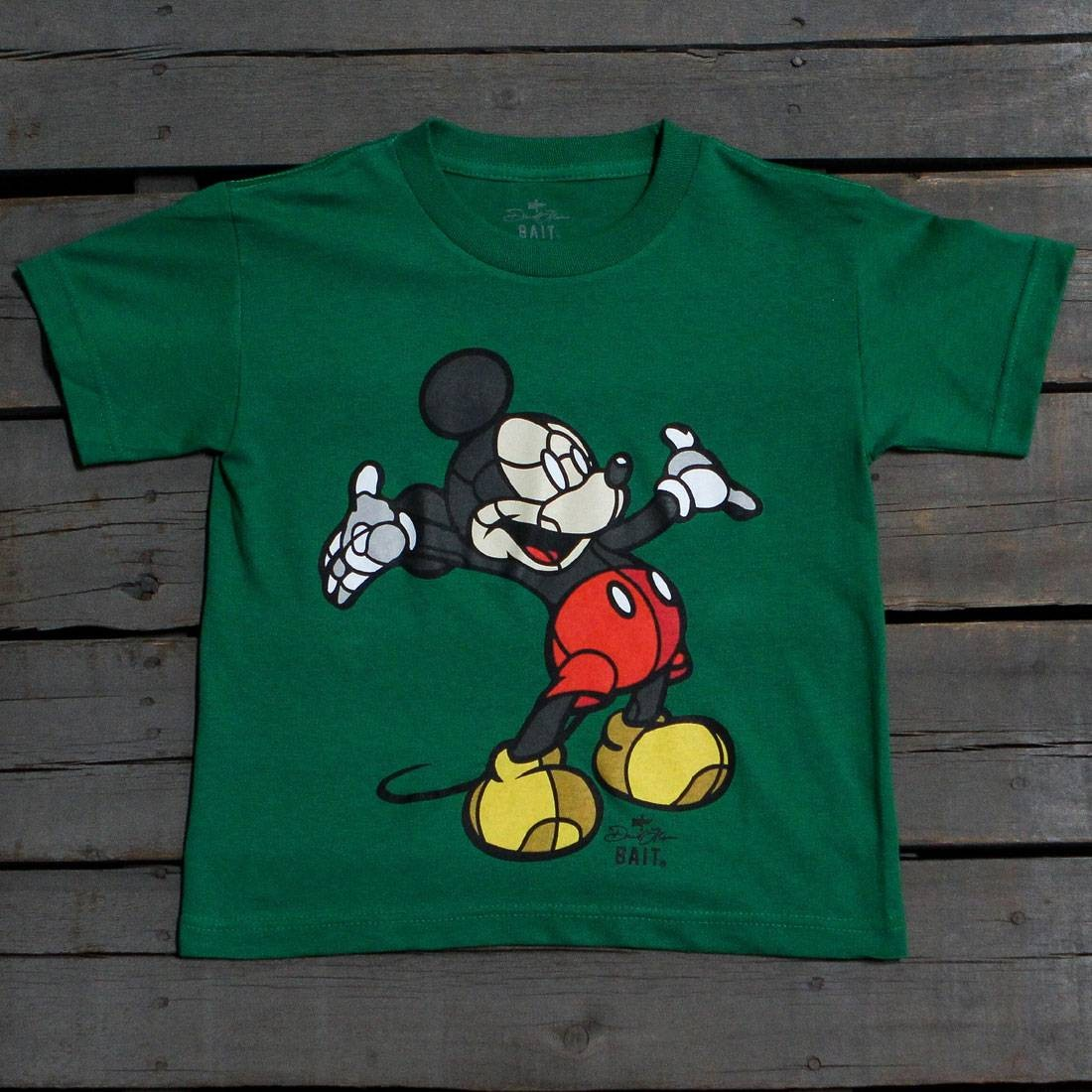 BAIT x David Flores Mickey Youth Tee (green / kelly green)