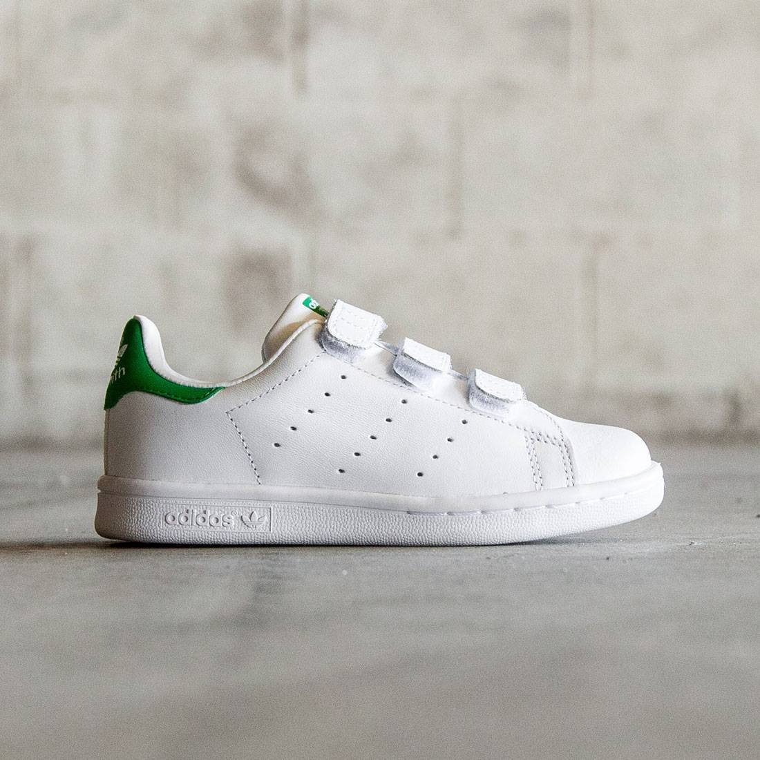 online store 3aa9e be65a Adidas Little Kids Stan Smith CF (white / green)