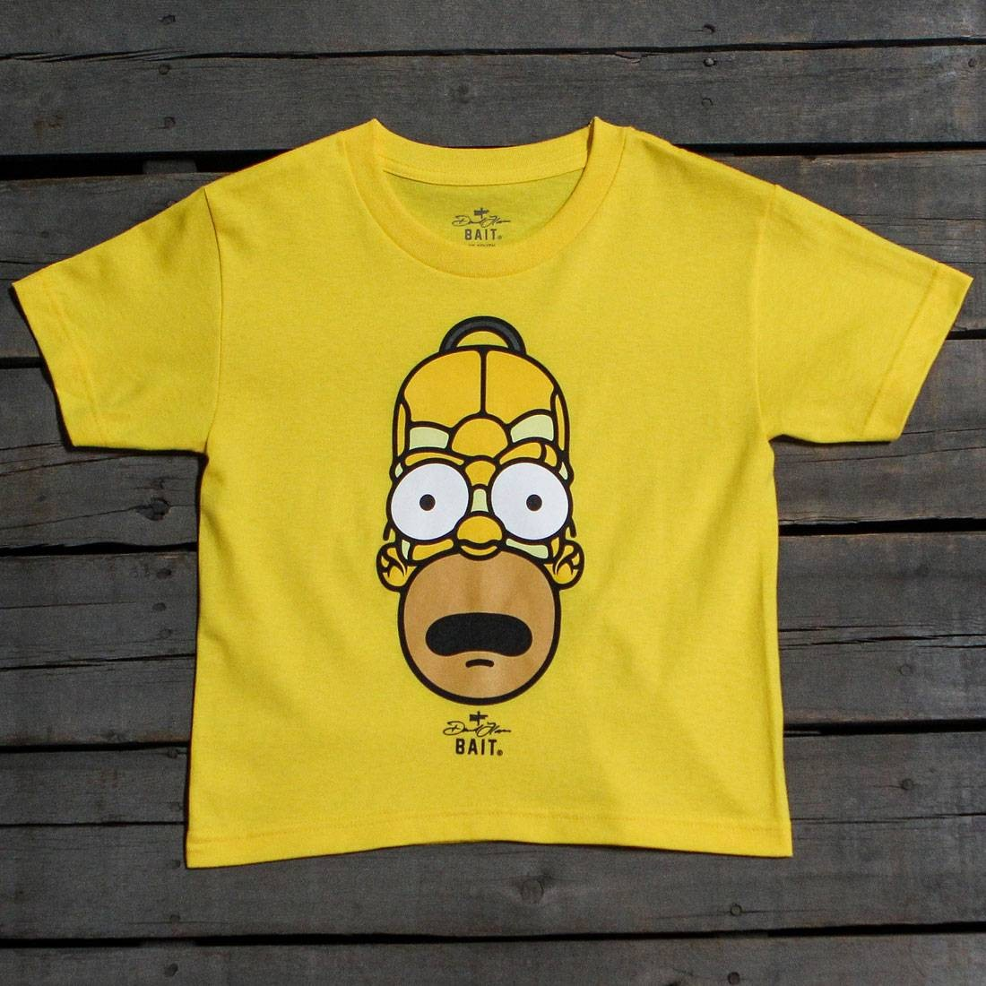 BAIT x David Flores Homer Simpson Youth Tee (yellow)