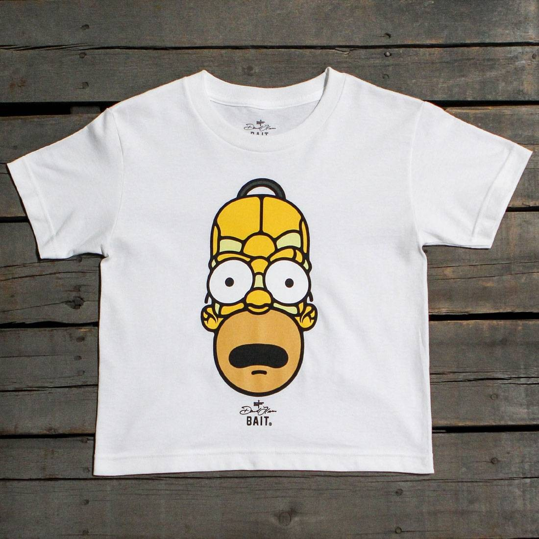 BAIT x David Flores Homer Simpson Youth Tee (white)
