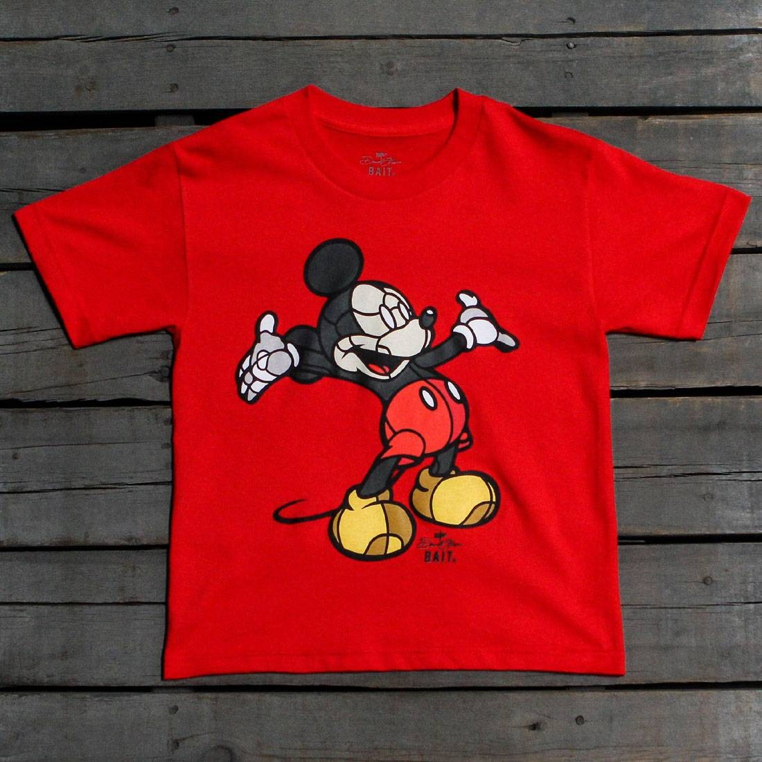 BAIT x David Flores Mickey Youth Tee (red)