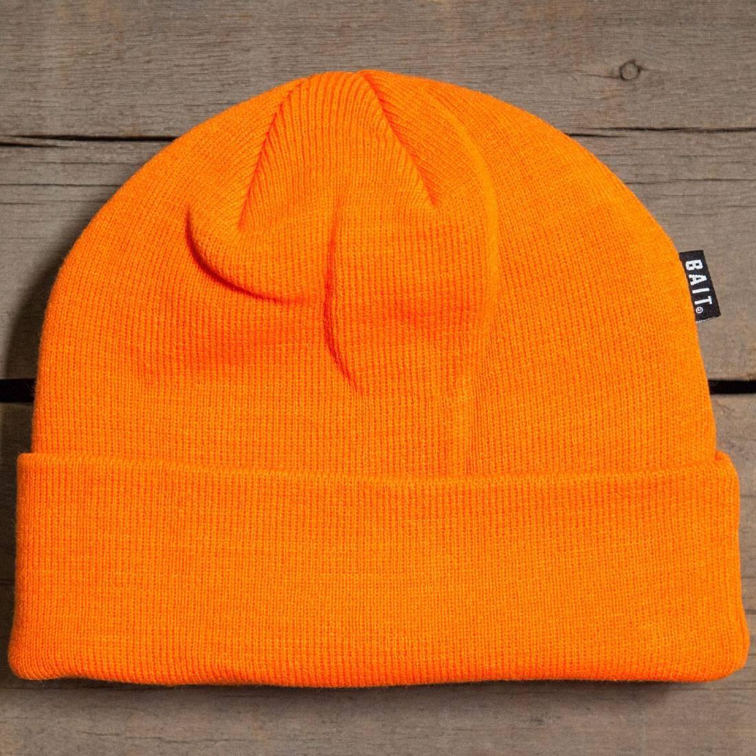 BAIT Folded Beanie (orange / safety orange)