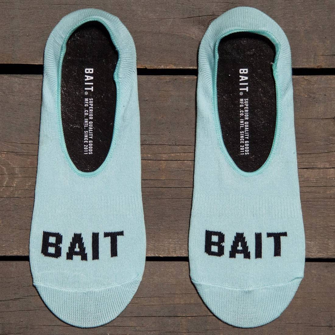 BAIT Logo Low Cut Invisible Socks (teal / mint) 1S