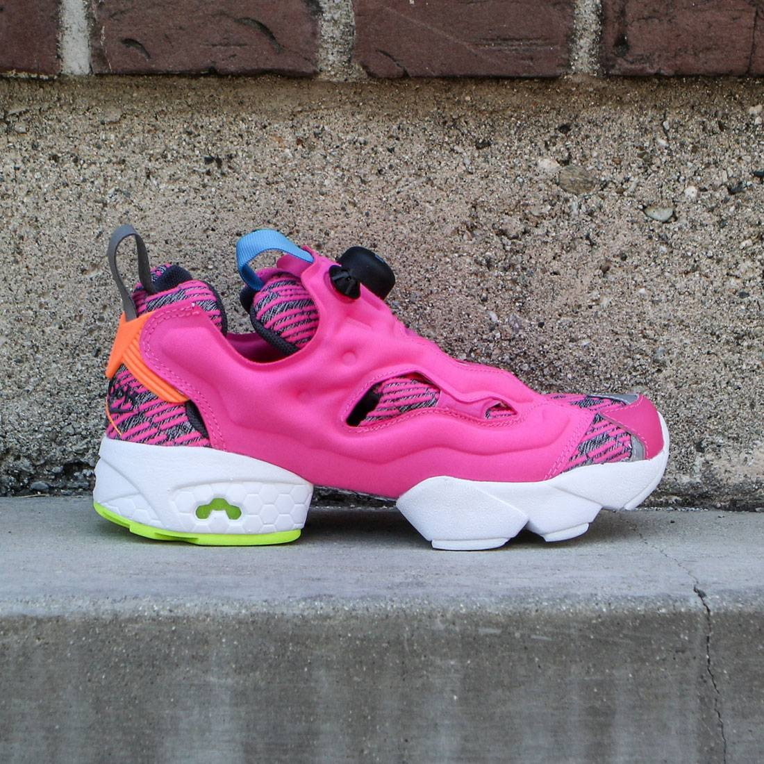 Reebok Women InstaPump Fury Celebrate pink dynamic pink electric peach  solar yellow blue 3fe1c33a7