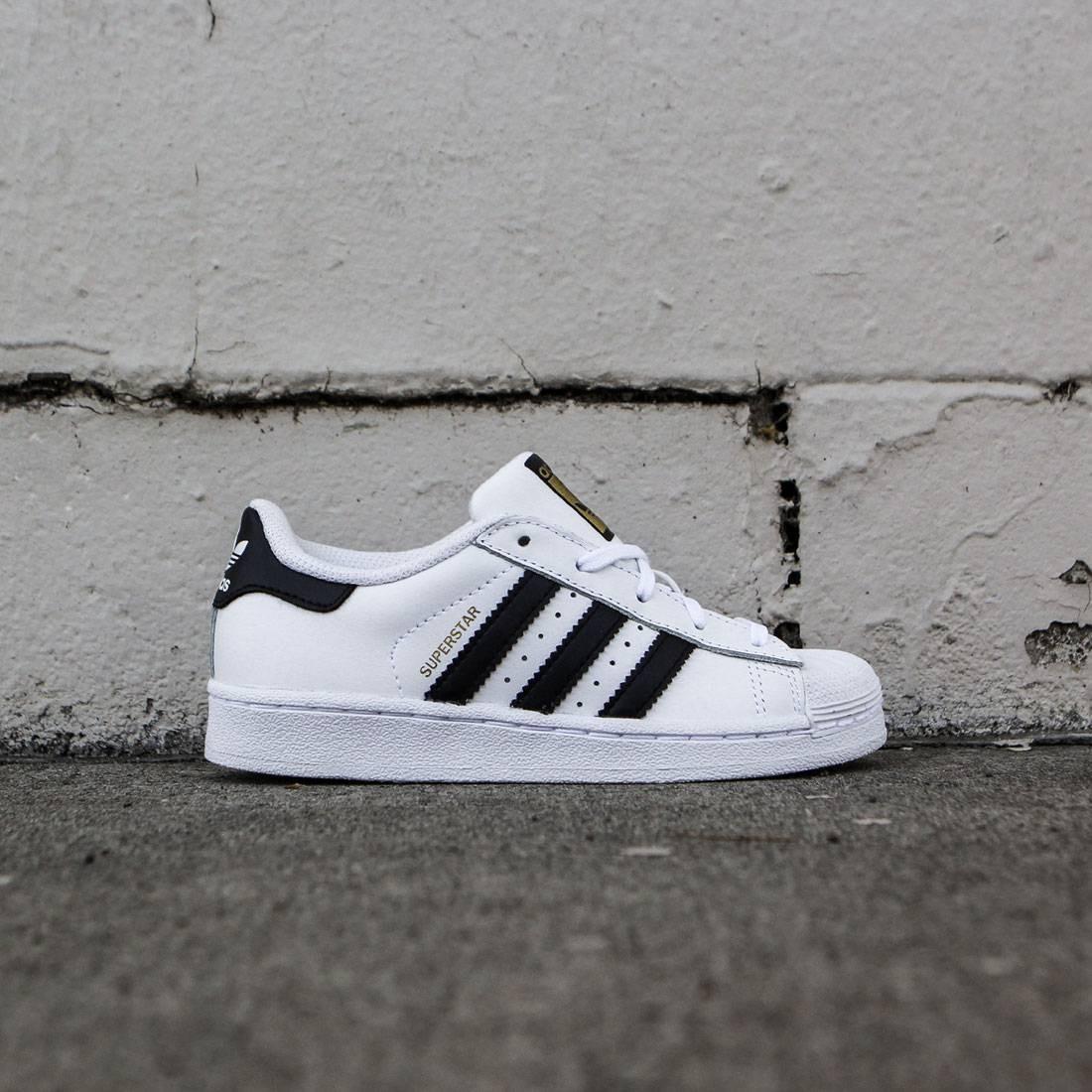 online store 137b1 4d518 Adidas Little Kids Superstar Foundation C (white / core black)