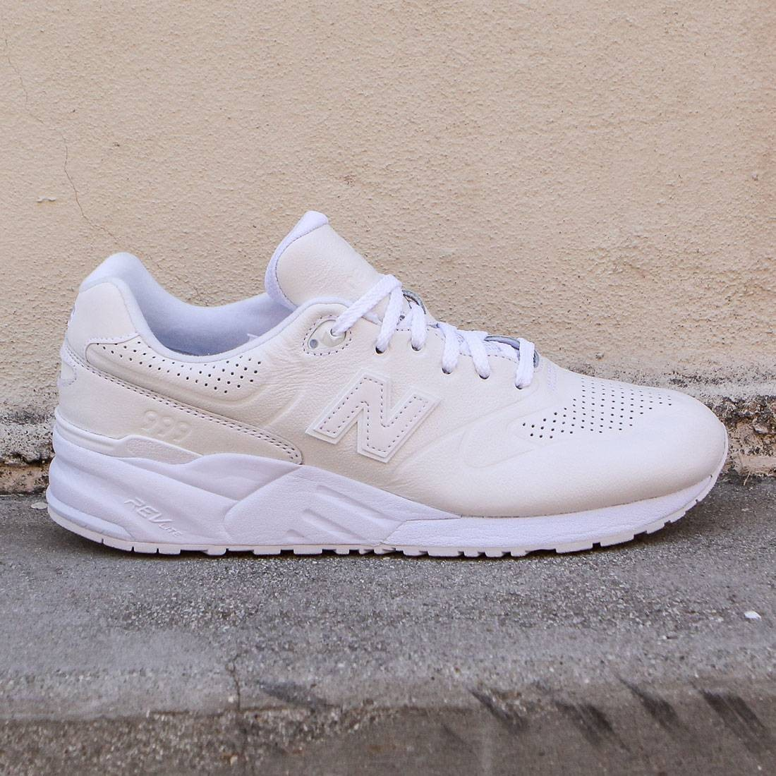 quality design 1f193 fdf0a New Balance Men 999 Deconstructed 90s Running Leather MRL999AH white
