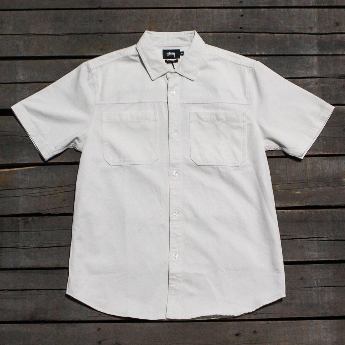 Stussy Men Big Pocket Denim Shirt (white / natural)