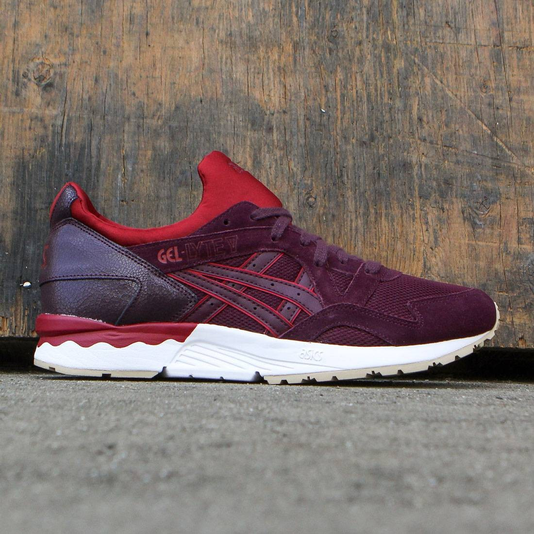 new styles 1a745 49a4b Asics Tiger Men Gel-Lyte V rioja red rioja red
