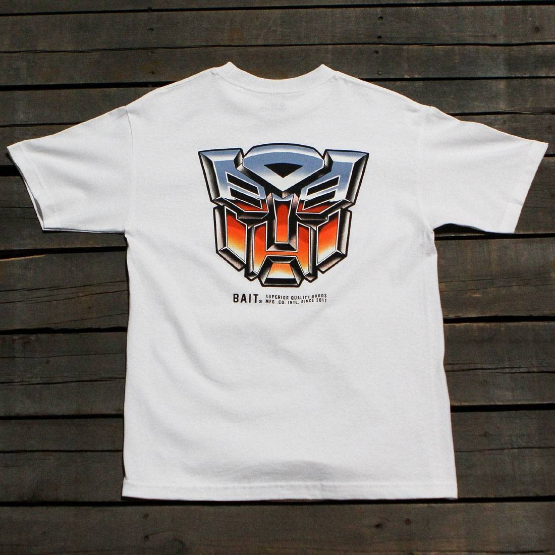 BAIT x Transformers Men Retro Autobots Tee (white)