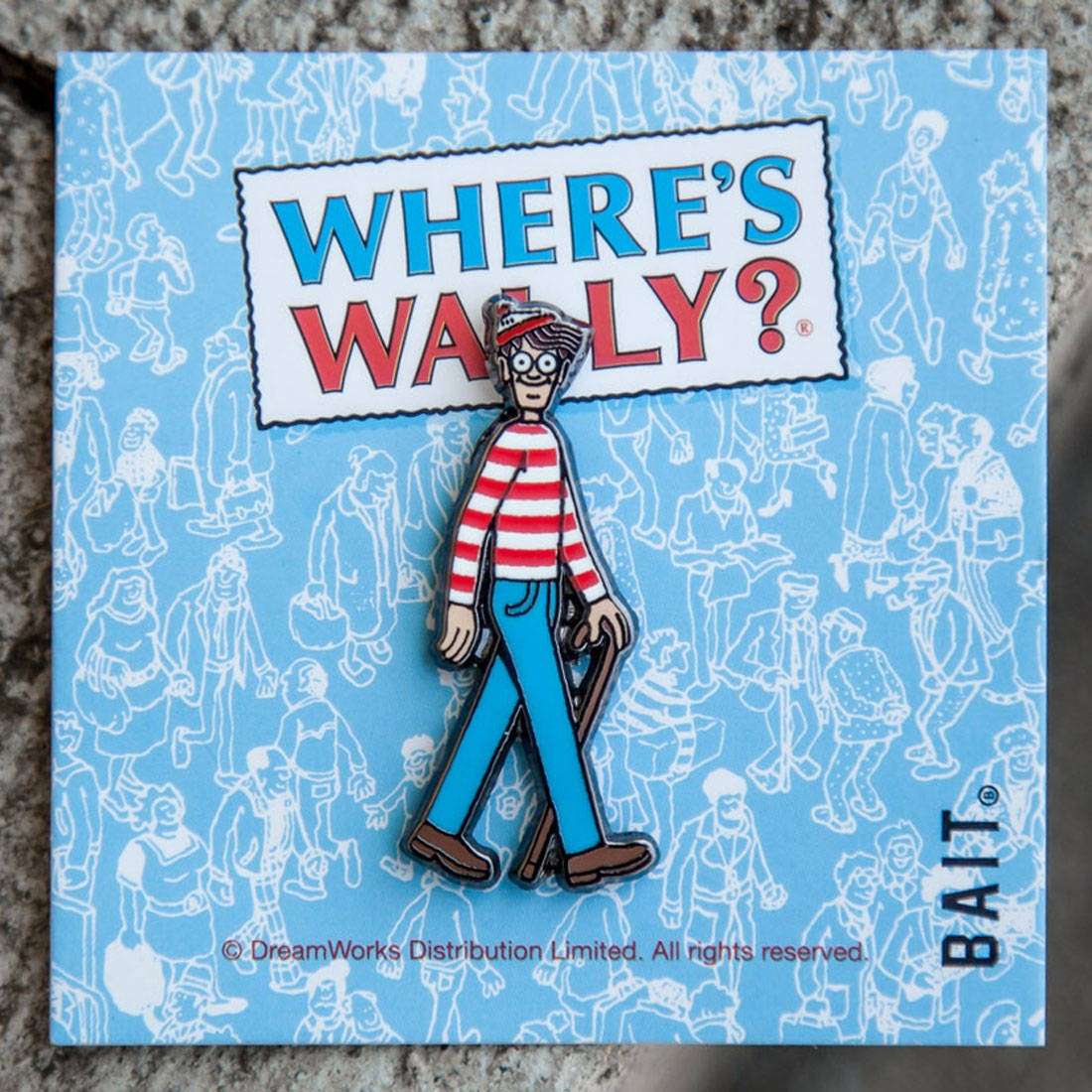 BAIT x DreamWorks Wheres Wally Pin (blue)
