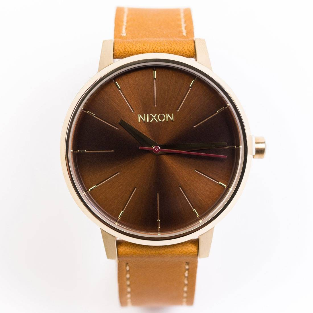 17e750f8d Nixon Kensington Leather Watch gold manu