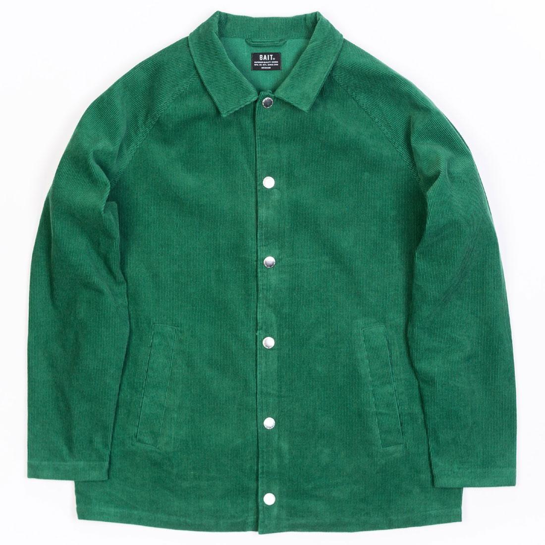 BAIT Unisex Corduroy Coaches Jacket (green / kelly)