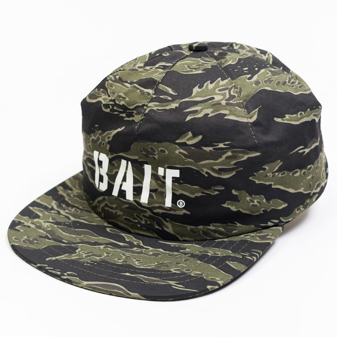 BAIT Tiger Camo Logo 1 Panel Hat (camo)