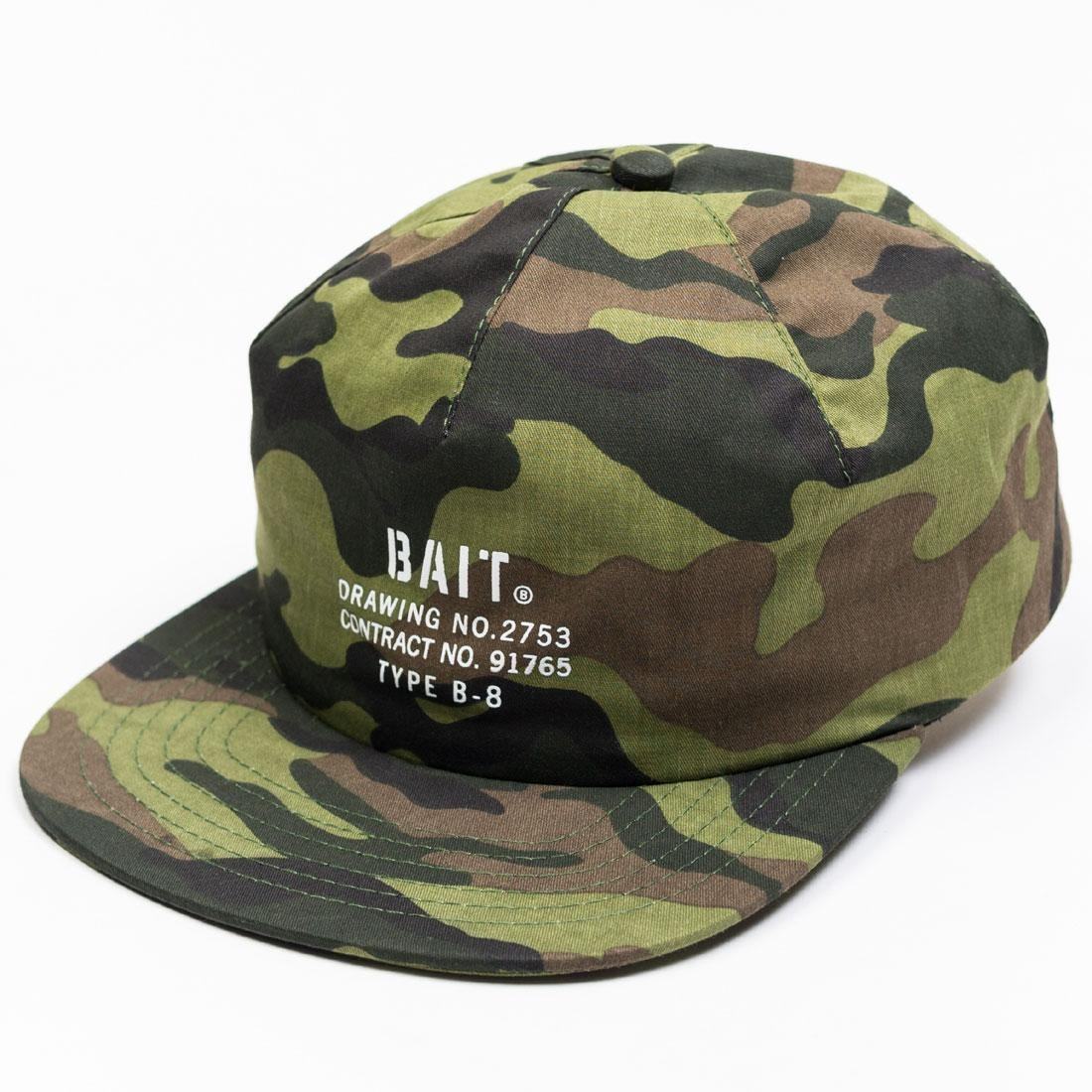 BAIT Woodland Camo Logo 1 Panel Hat (camo)