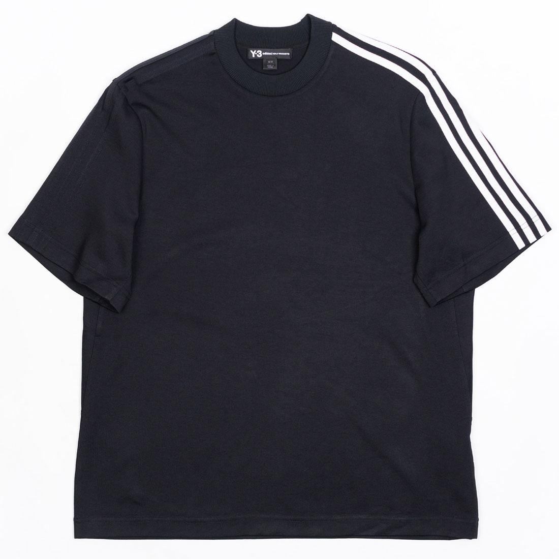 Adidas Y-3 Men 3-Stripes Tee (black / white)
