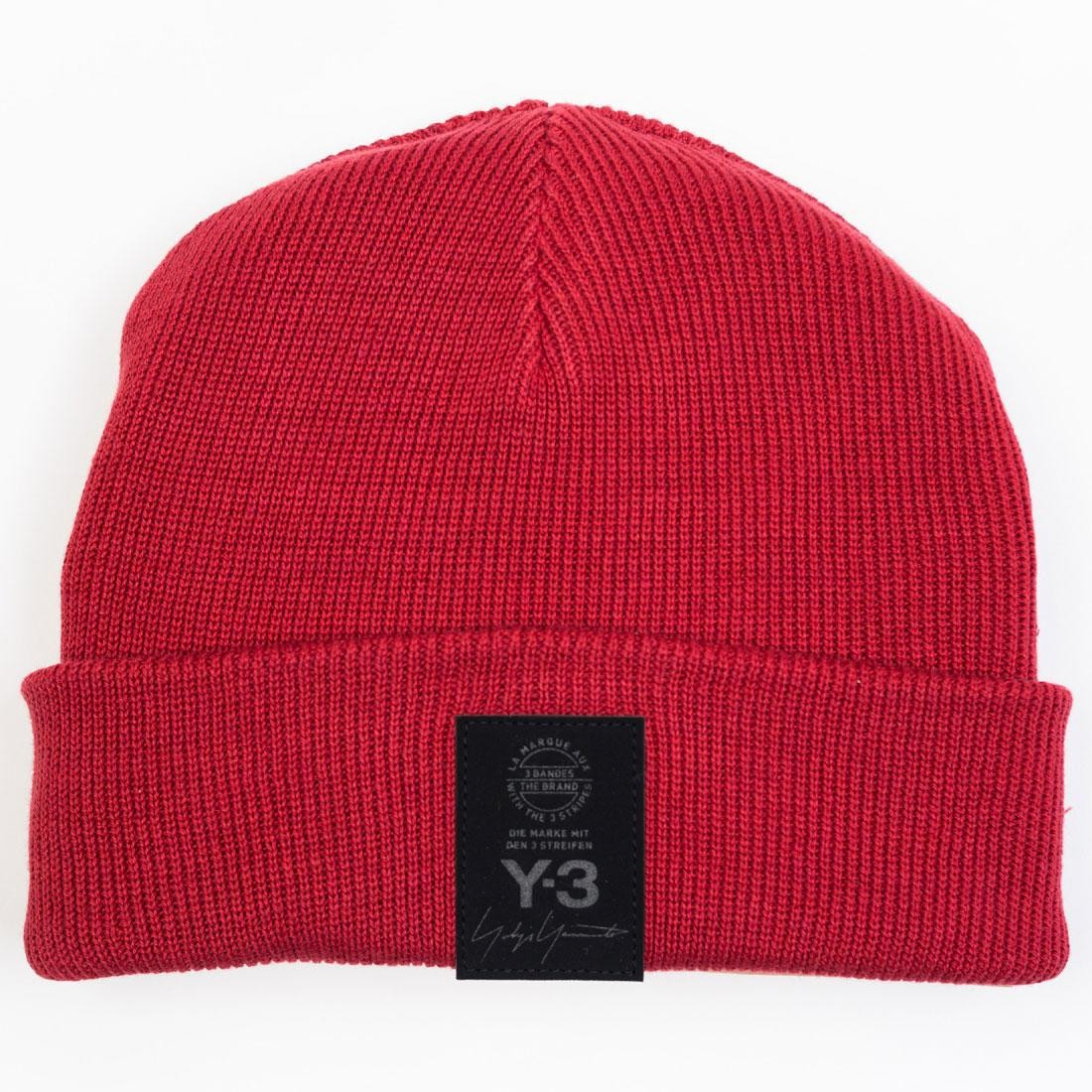 Adidas Y-3 Logo Beanie (red / chili pepper)