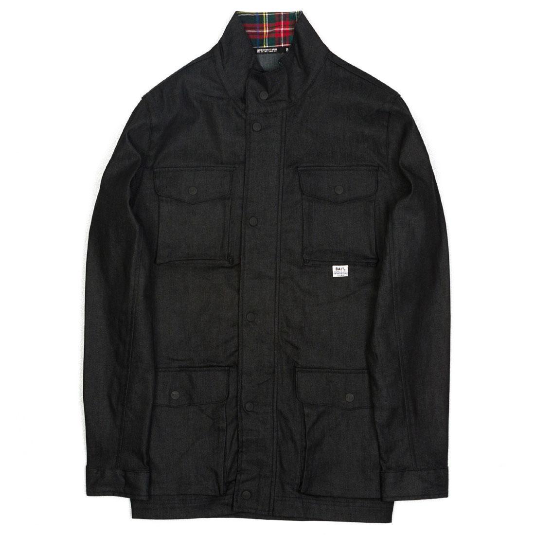 BAIT Men Denim Plaid Jacket (black)