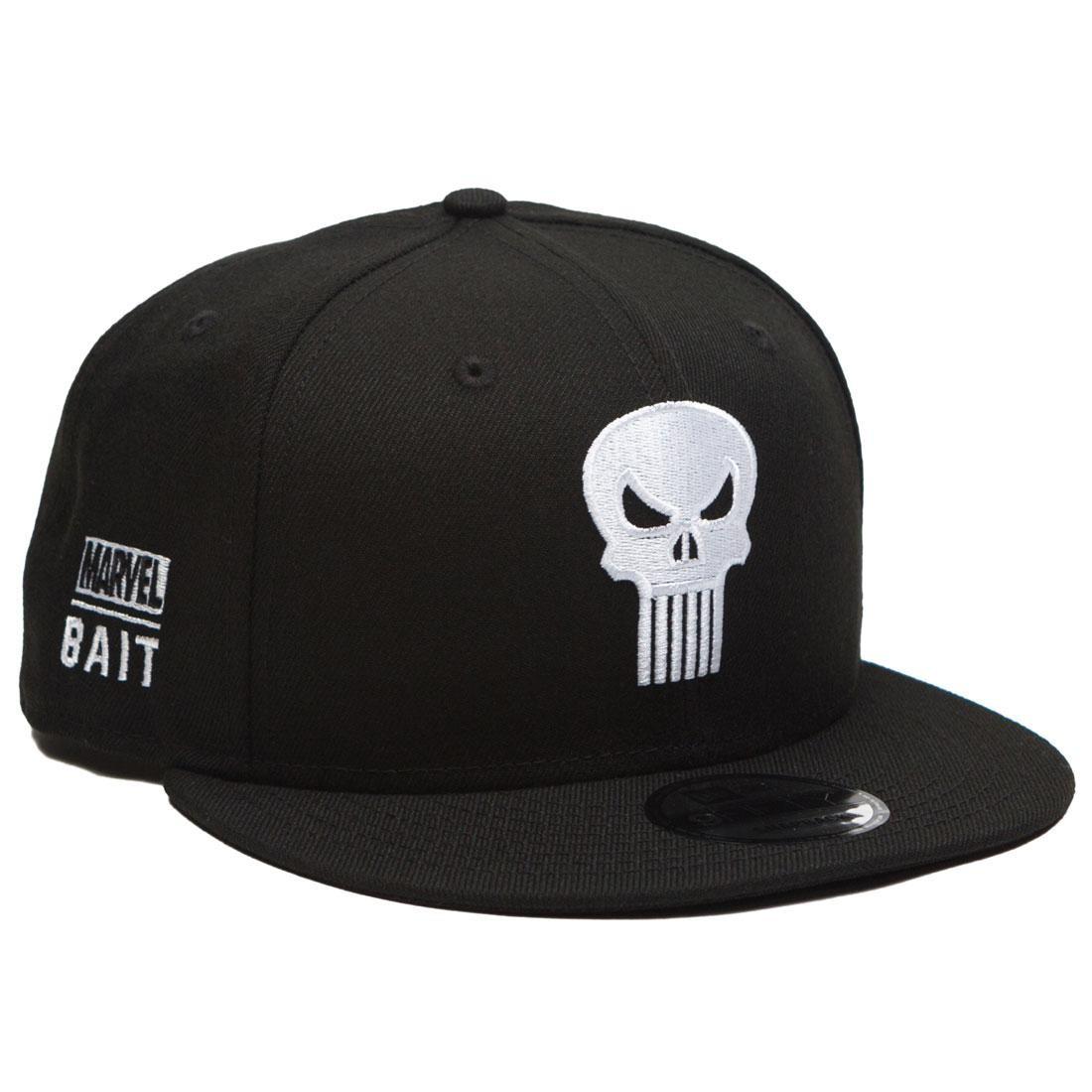 BAIT x Marvel x New Era 9Fifty Punisher Black Snapback Cap (black)