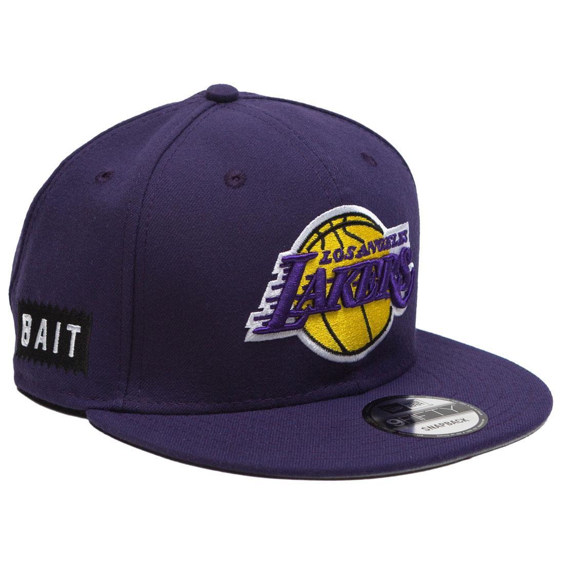 37e8eea41fd565 BAIT x NBA X New Era 9Fifty Los Angeles Lakers OTC Snapback Cap purple