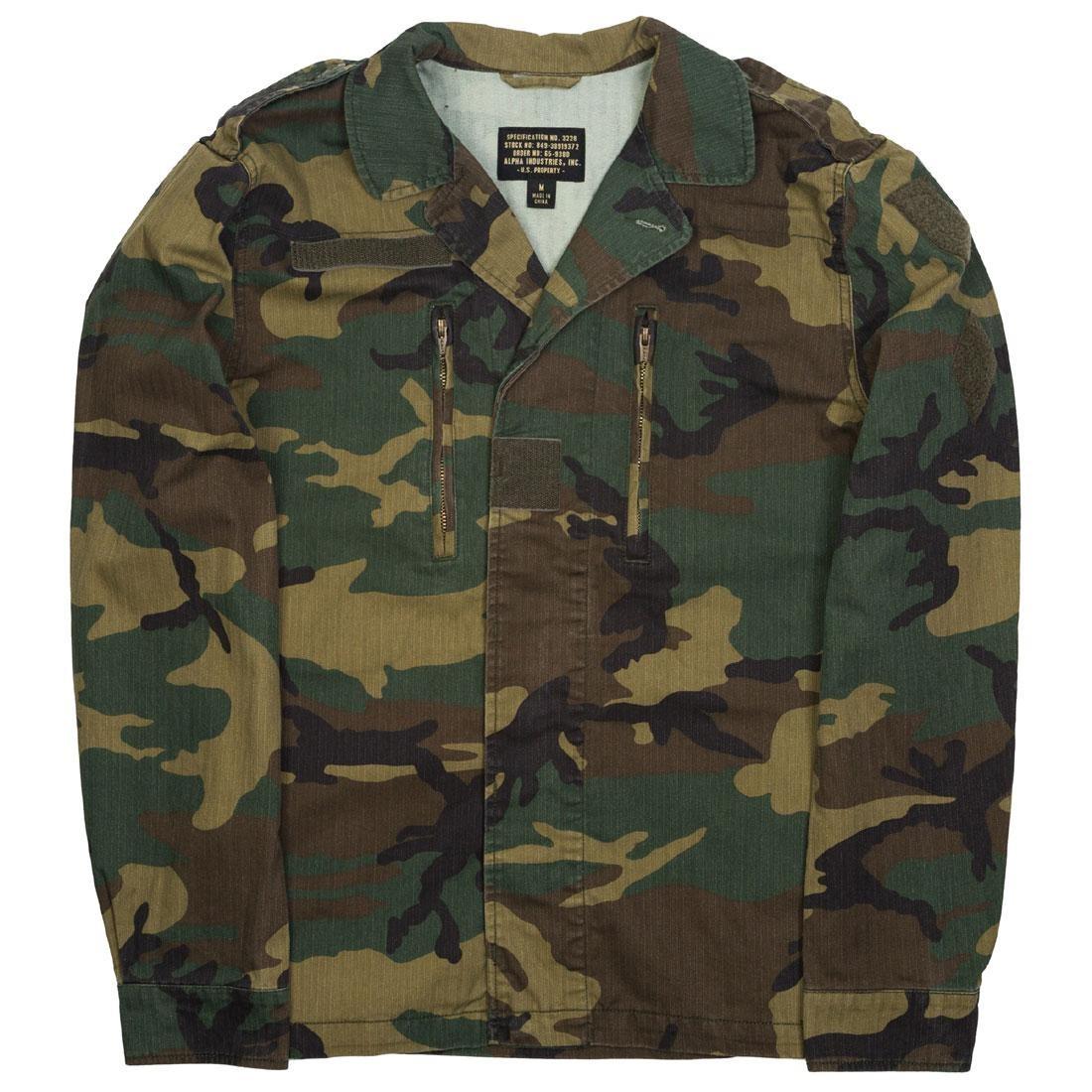 hot sale online 18d2d 9d529 Alpha Industries Men F2 French Field Coat (camo / woodland camo)