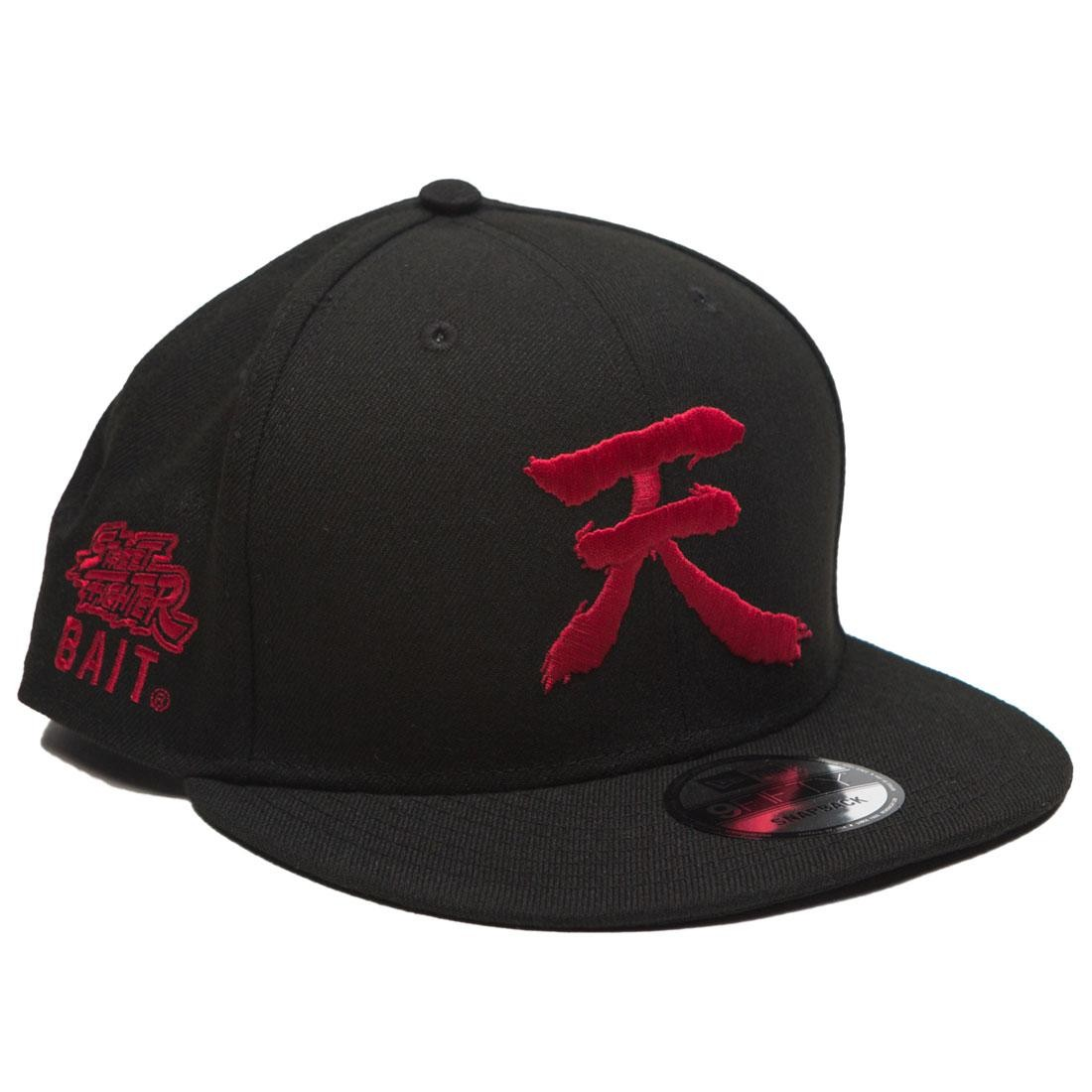 BAIT X Street Fighter x New Era Akuma Ten Snapback Cap (black)