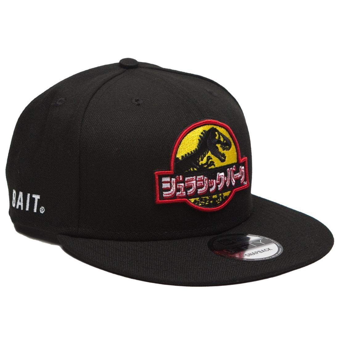BAIT x Jurassic Park x New Era Damage Control Snapback Cap (black)