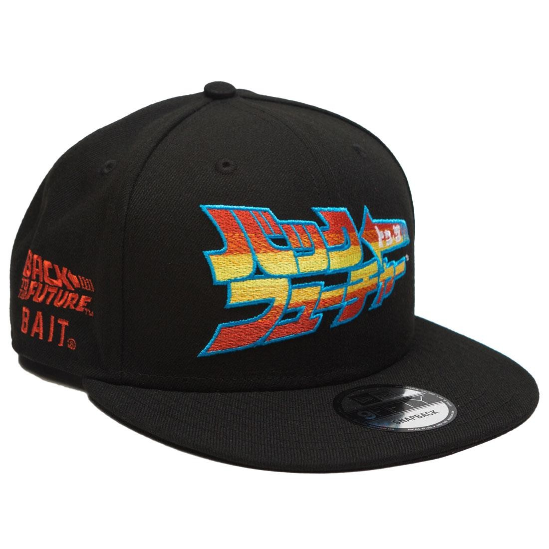 BAIT x Back To The Future x New Era Japanese Snapback Cap (black)