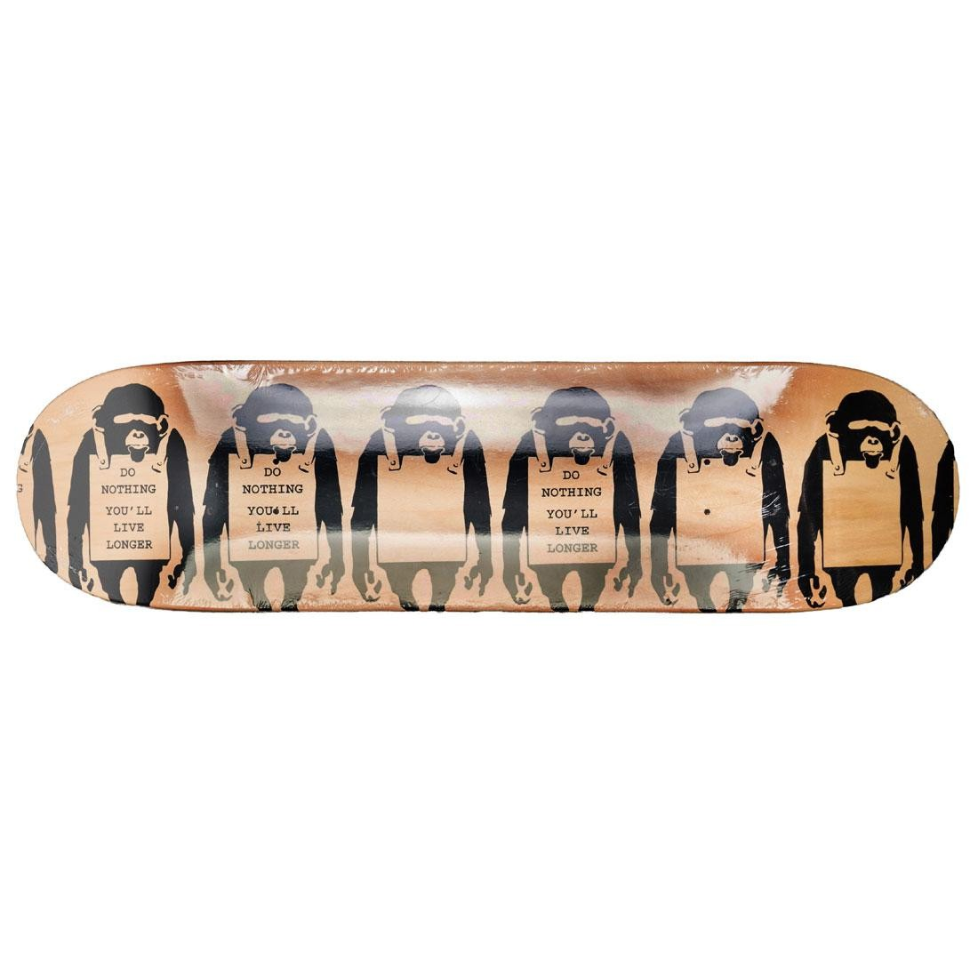 Medicom x SYNC Brandalism Monkey Sign Skateboard Deck (tan)