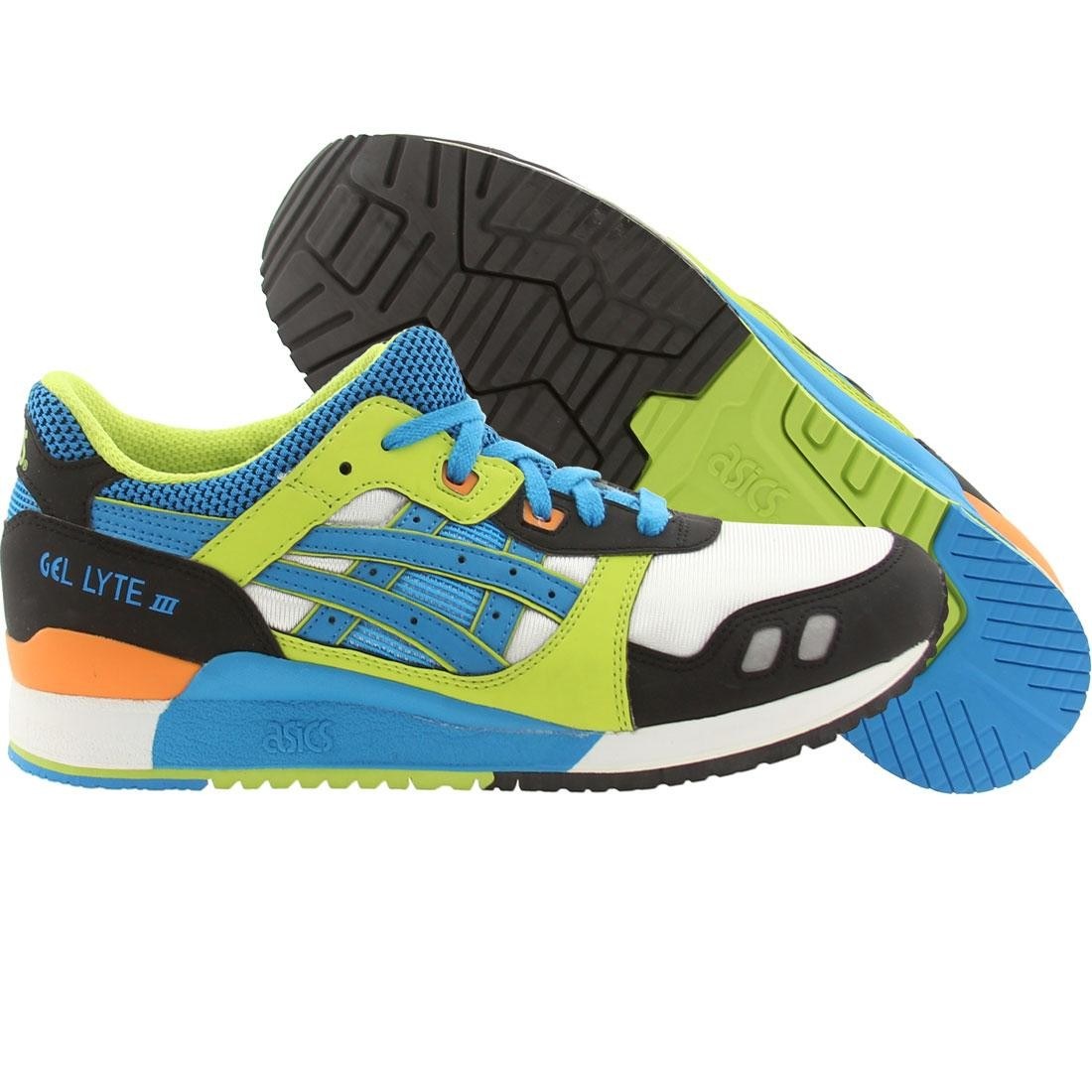 newest 86103 75f53 Asics Tiger Gel-Lyte III (white / astro / blue / green / orange)
