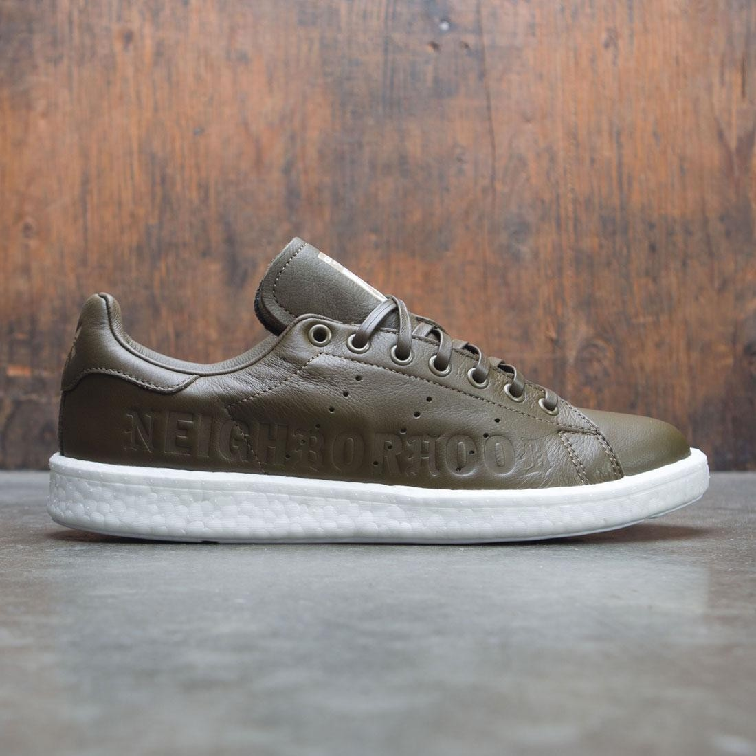 7cf51860f5d3 Adidas x Neighborhood Men Stan Smith BOOST NBHD (olive   trace olive    footwear white)
