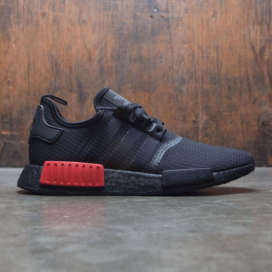 d8a2e10af Adidas Men NMD R1 black core black lush red
