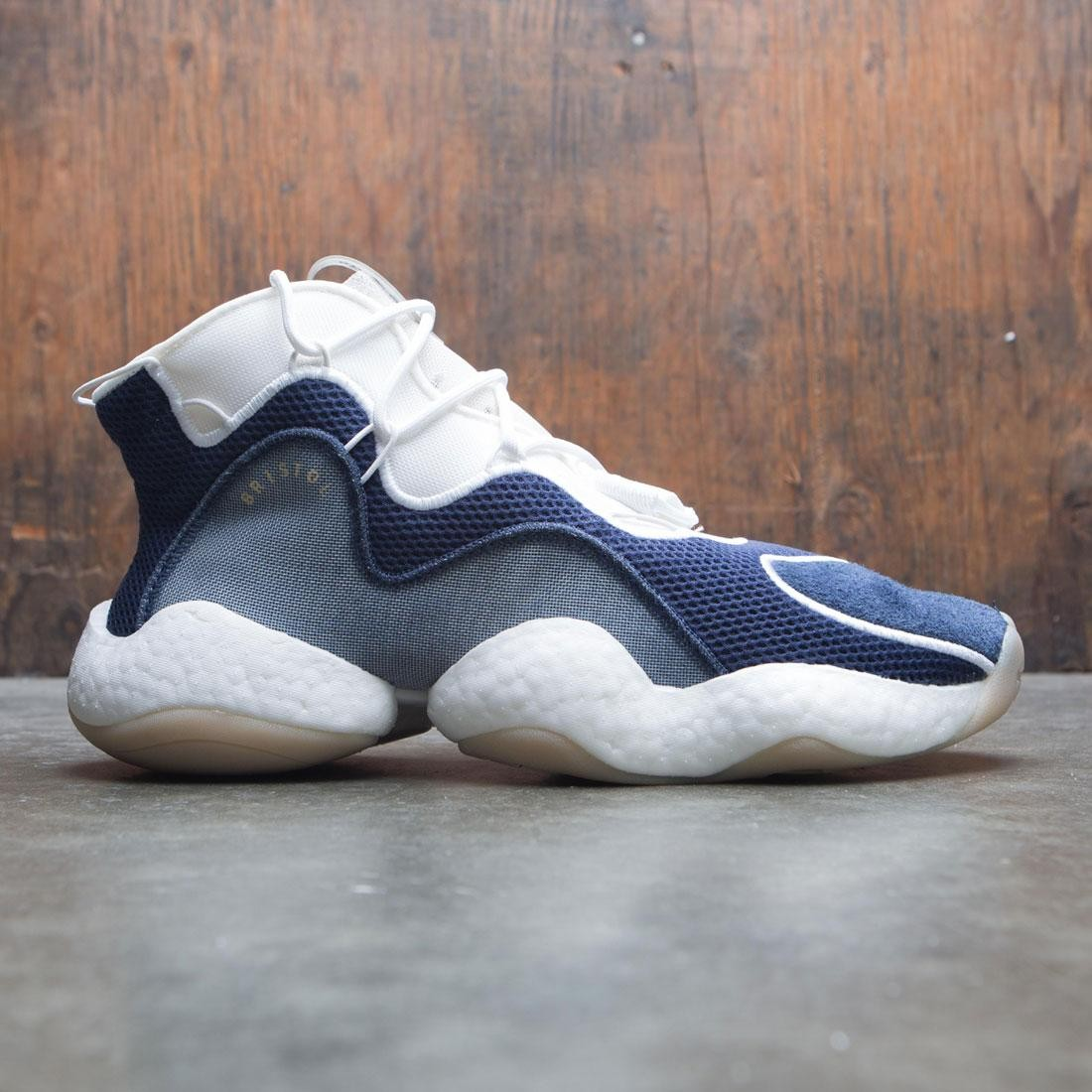 sports shoes 0d5a8 bdcbf Adidas x Bristol Studio Men Crazy BYW LVL I (navy / collegiate navy / cloud  white / footwear white)