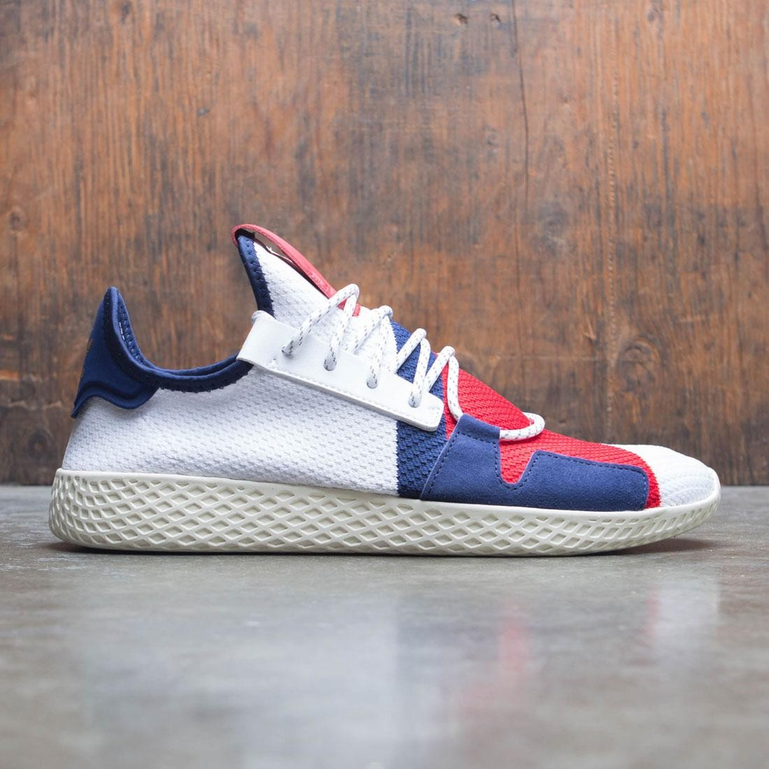 c26cfde39 Adidas x Pharrell Williams Men Tennis HU BBC white scarlet dark blue