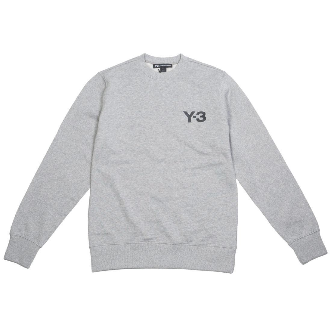 Adidas Y-3 Men Classic Logo Front Crew Sweater (gray / heather)