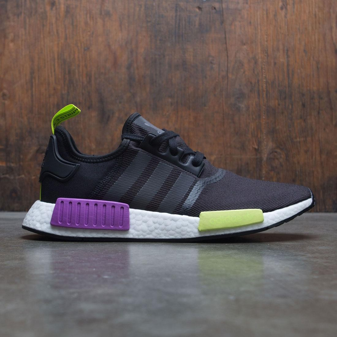best service 4ff01 a47e4 Adidas Men NMD R1 black core black shock purple