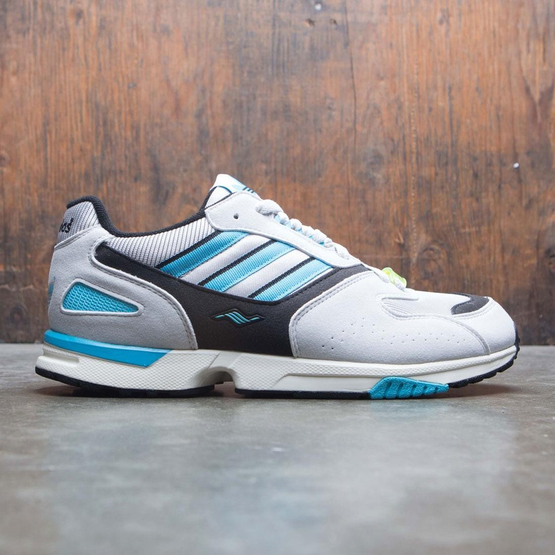 Adidas Consortium Men ZX 4000 (gray / core black / bright cyan)