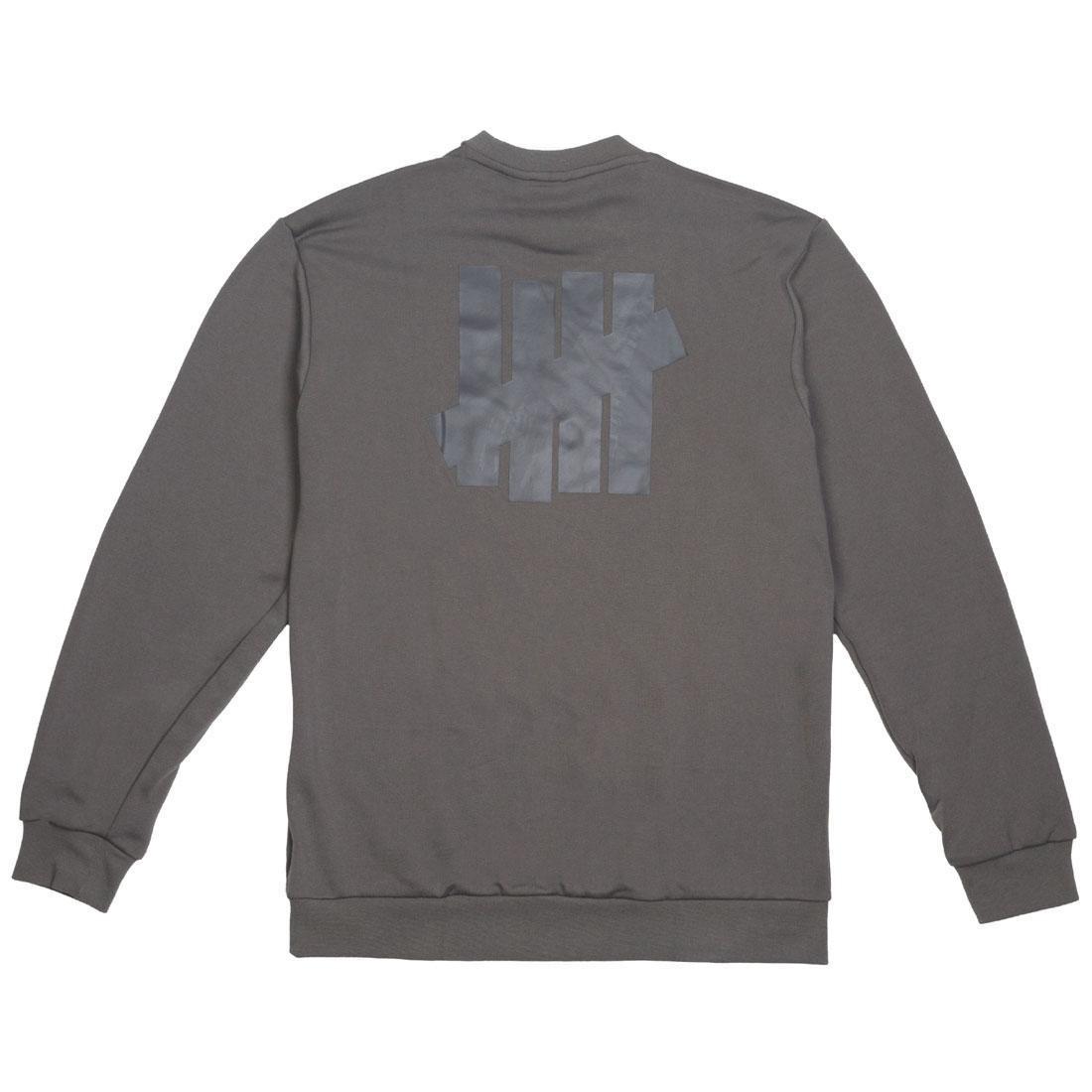 Adidas x Undefeated Men Running Crew Sweater (gray / cinder / utility black)